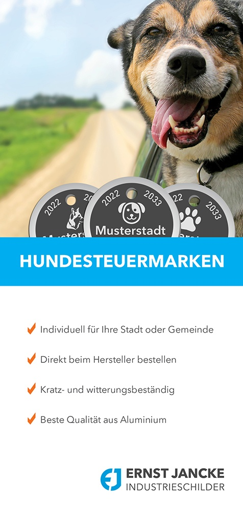 Startseite Flyer Hundesteuermarken
